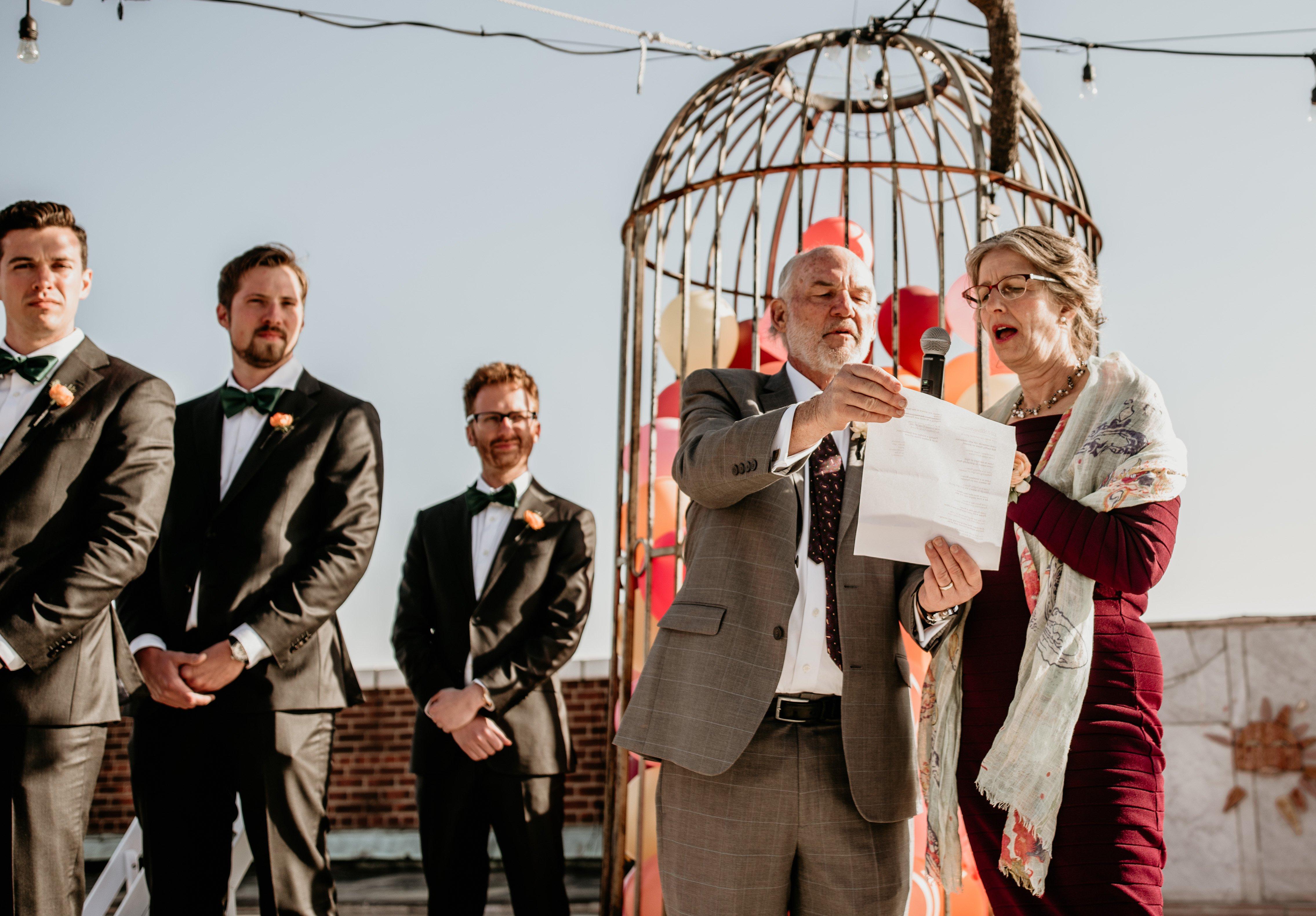 Sweet ceremony readings